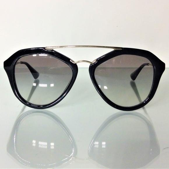 4211b45595c Womens Prada Black Aviator SPR 120 Sunglasses 💎. M 5c427bce8ad2f93f0ed9bdc1